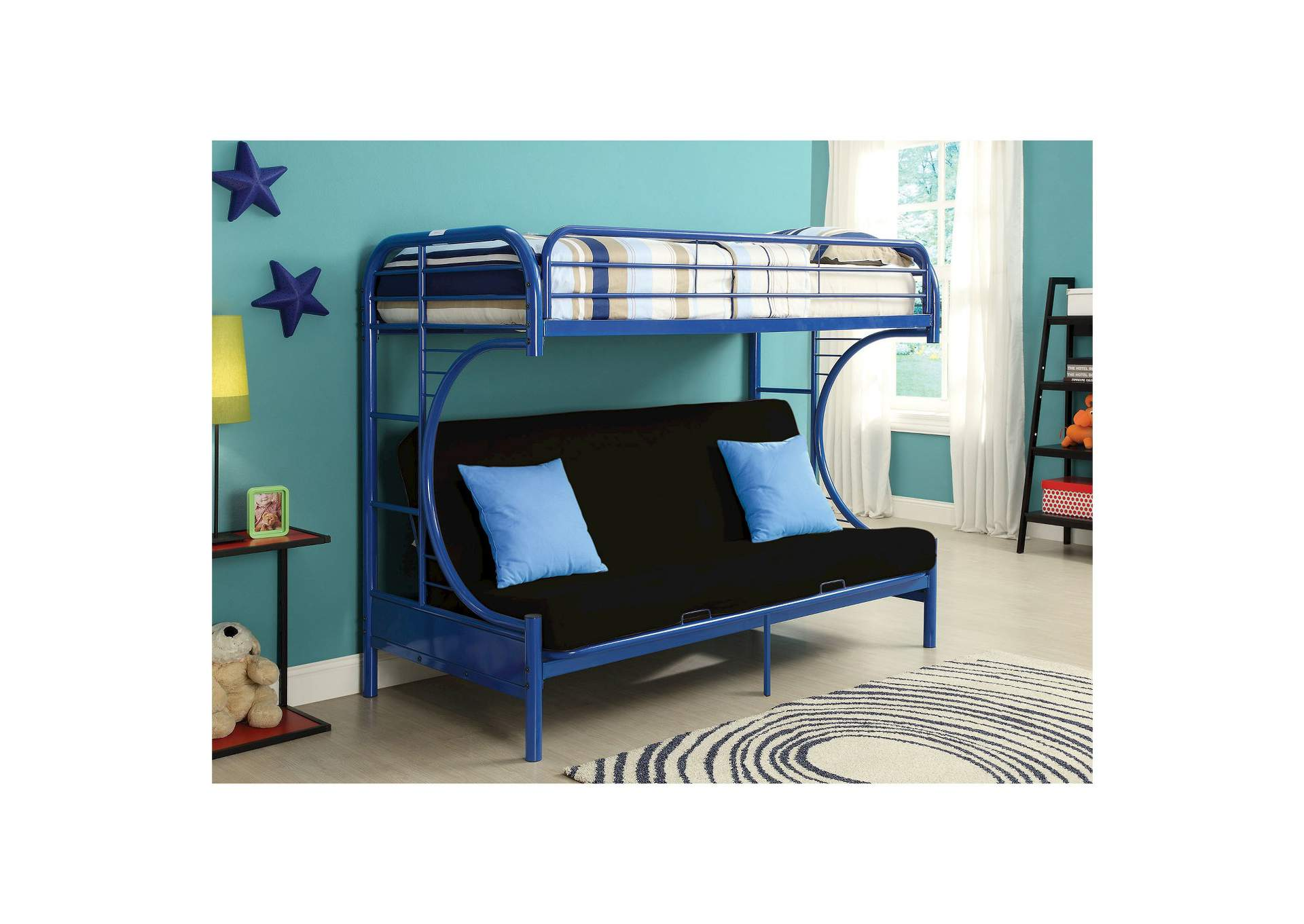 Blue Twin/Futon Bunk Bed,Global Trading