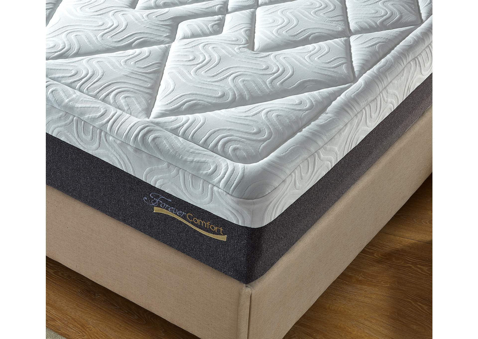 Grey 14'' Gel Memory Form King Mattress,Global Trading
