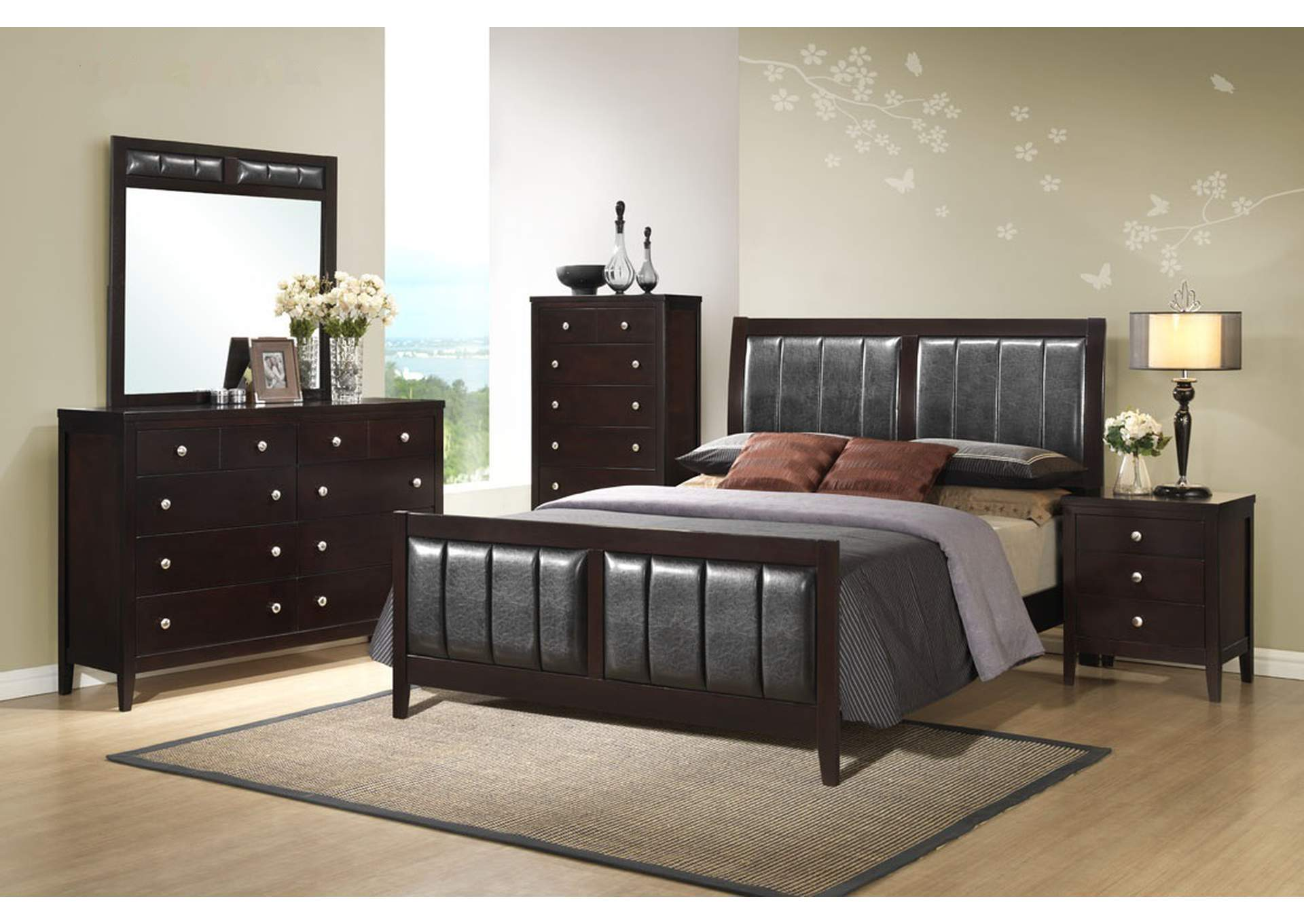 Antique Black Queen Bed,Global Trading