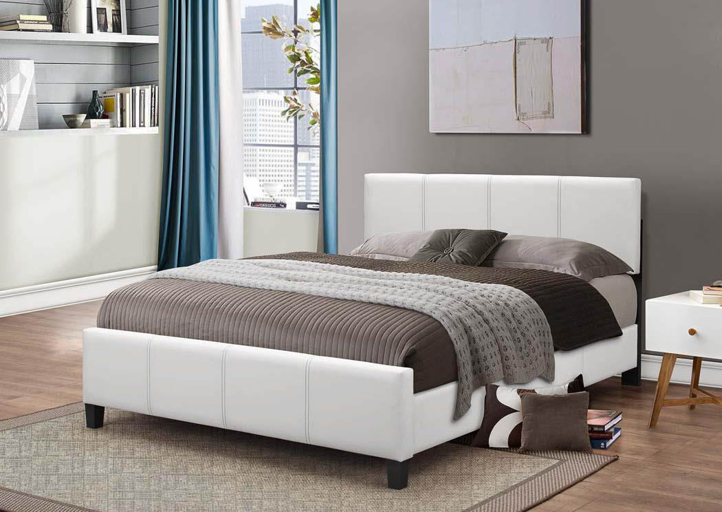 White PU Queen Bed,Global Trading