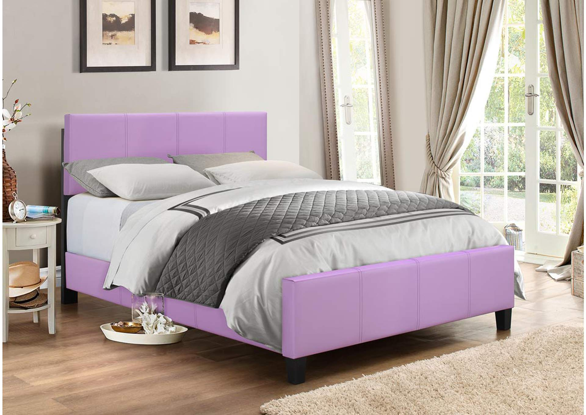 Zenfield Lilac Panel Full Bed,Global Trading