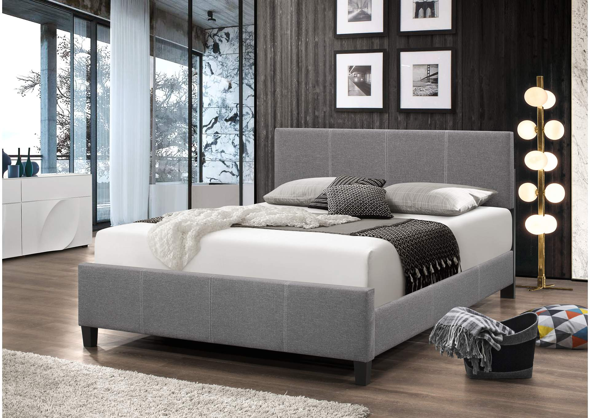 Larrenton Grey Panel Queen Bed,Global Trading
