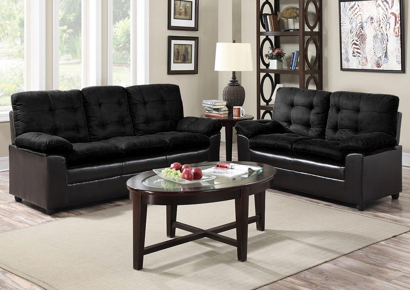 Black Microfiber Sofa,Global Trading