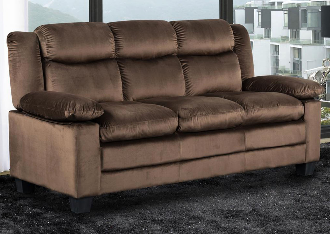 Brown Sofa,Global Trading