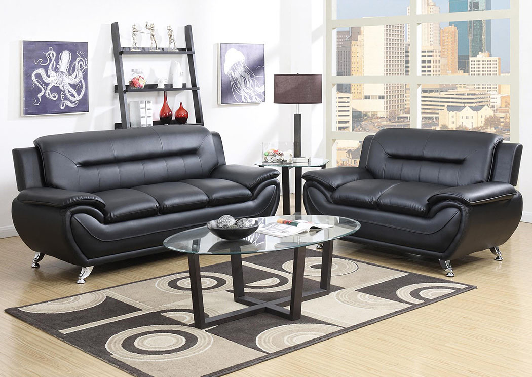 Black Sofa & Loveseat,Global Trading