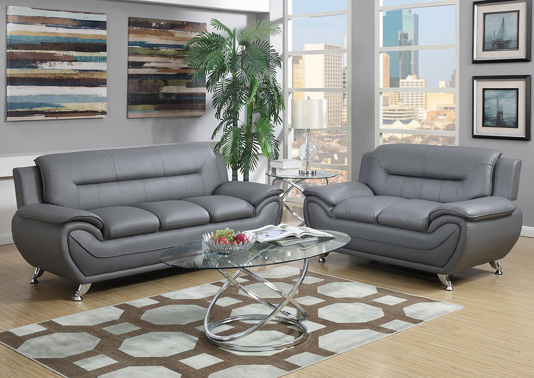 Grey Sofa & Loveseat,Global Trading