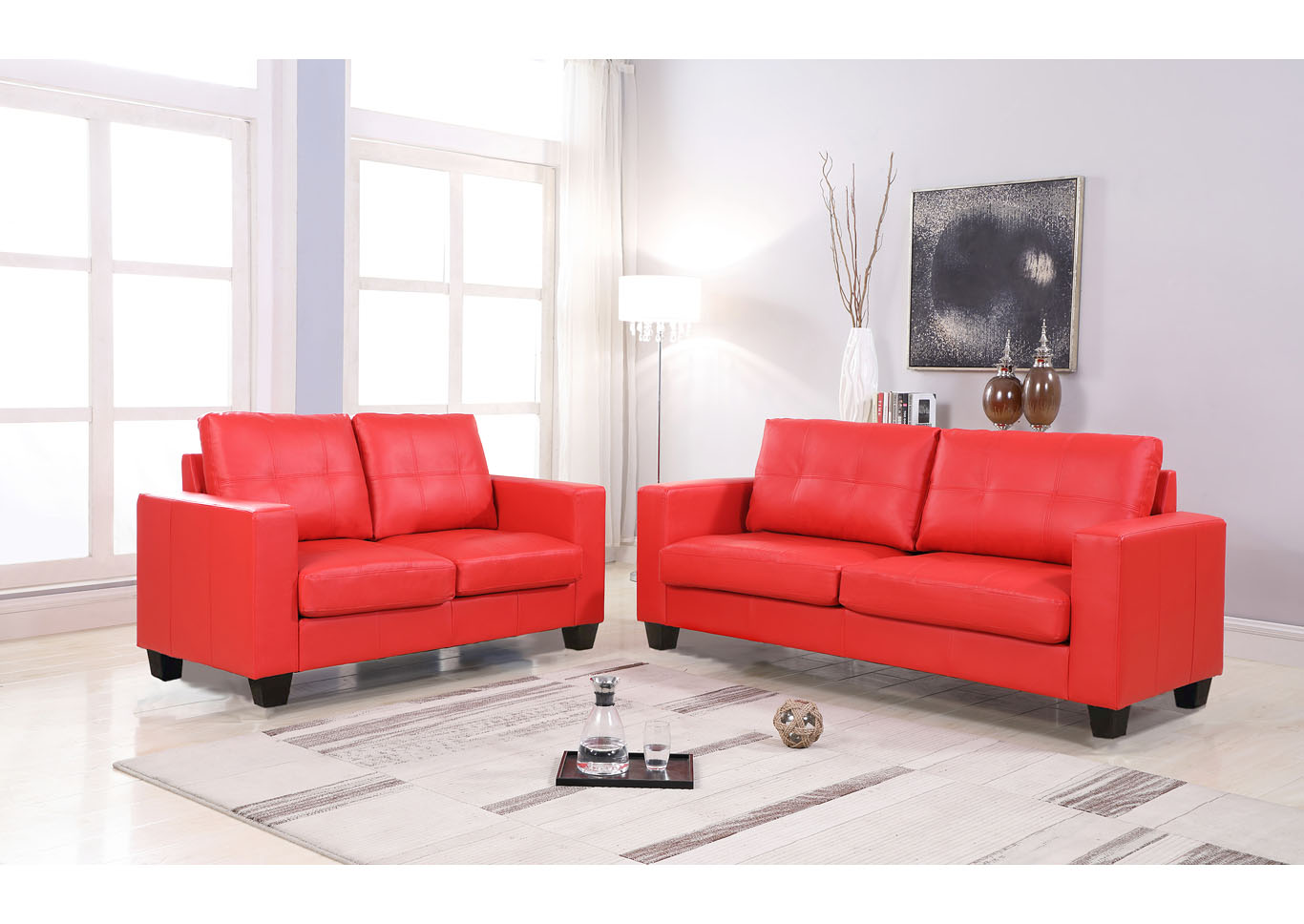 Red Loveseat,Global Trading