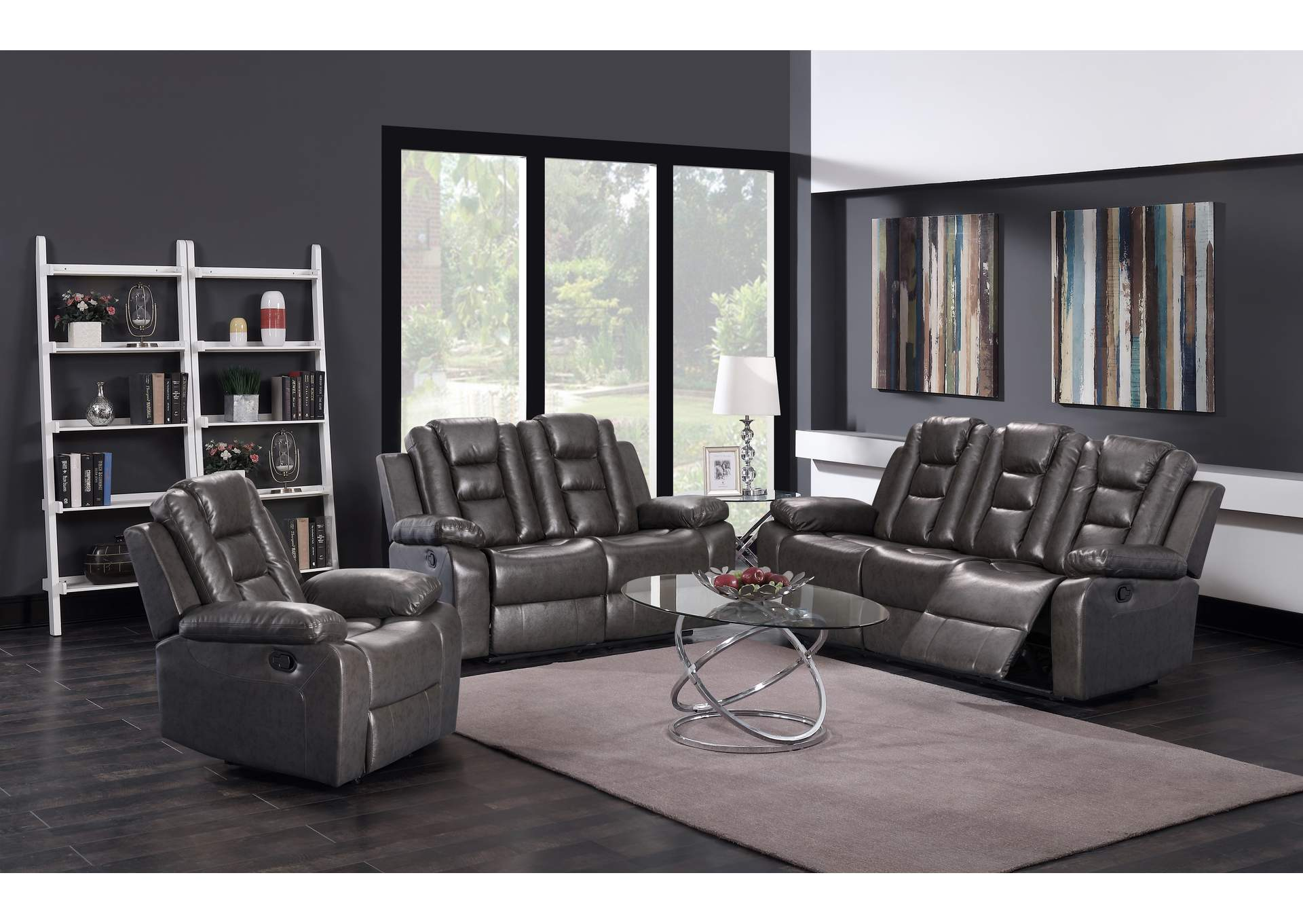 Grey Sofa & Loveseat & Recliner,Global Trading