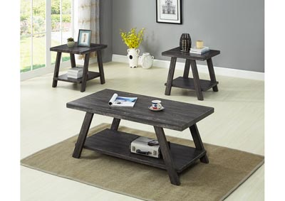 Grey 3 Piece Coffee & End Table Set