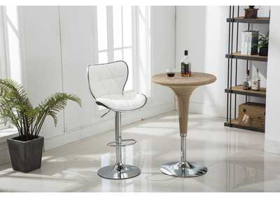 White Bar Stool (2 In 1 Box)