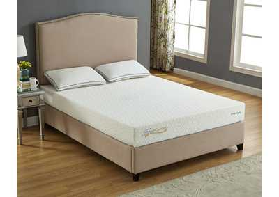 "White 8"" Gel Memory Foam Twin Size Mattress"