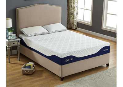 "White 10"" Gel Memory Foam Full Size Mattress"