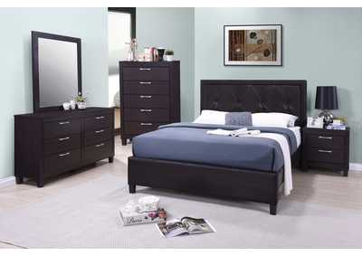 Tripton Dark Grey Panel Queen 4 Piece Bedroom Set W/ Chest, Dresser & Mirror