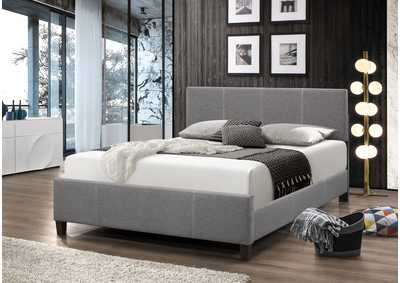 Larrenton Grey Panel Queen Bed