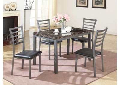 Faux Mable Top Dinette (Set of 5)