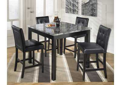 Image for Black Square Marble Top Pub Table