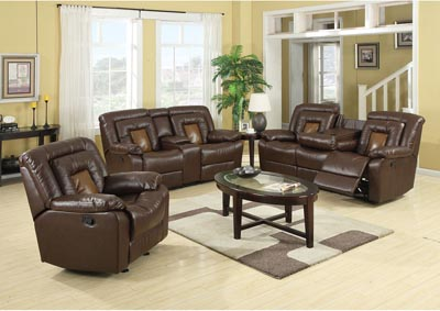 Cobra Brown Reclining Sofa
