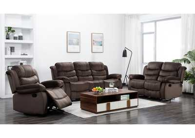Cocoa Short Plush Reclining Sofa & Loveseat & Recliner