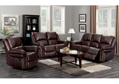 Dark Brown Reclining Sofa
