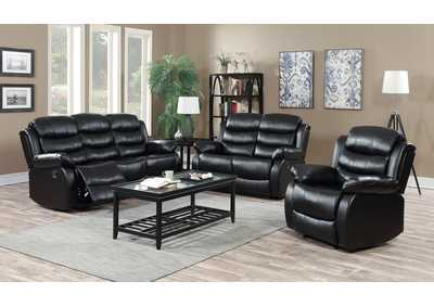Black Reclining Sofa & Loveseat