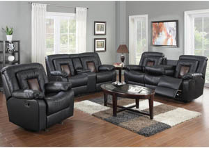 Cobra Black Reclining Sofa