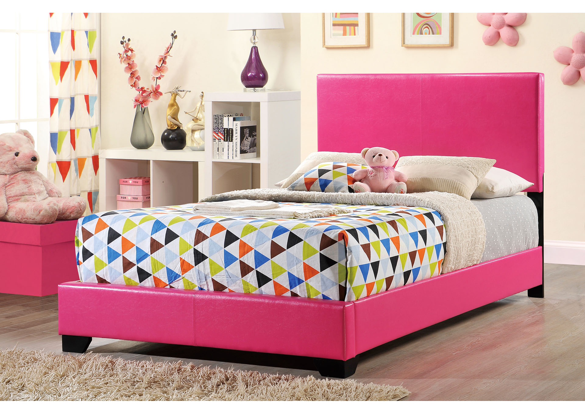 Pink Full Bed,Global Furniture USA