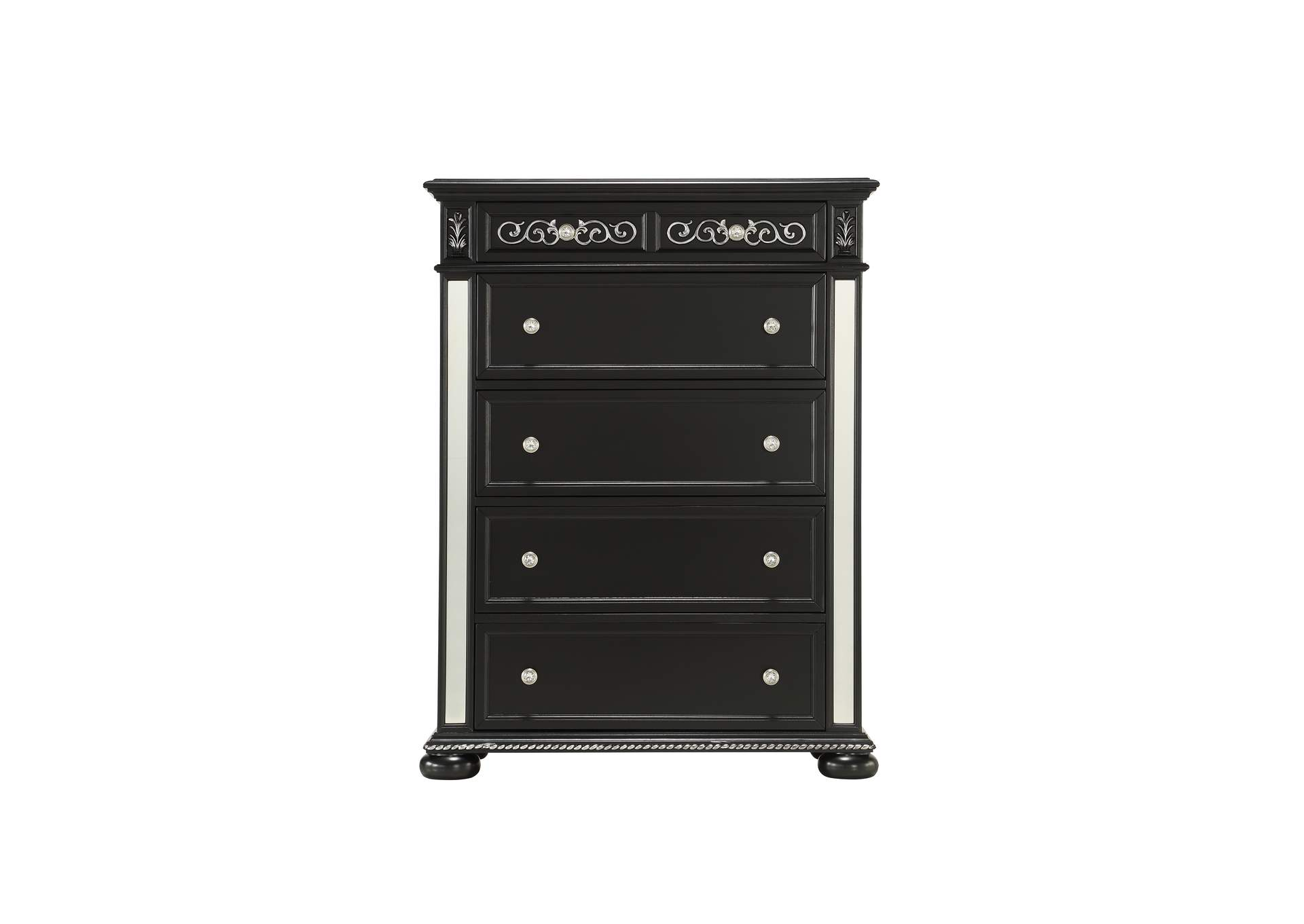 Diana Black Chest,Global Furniture USA