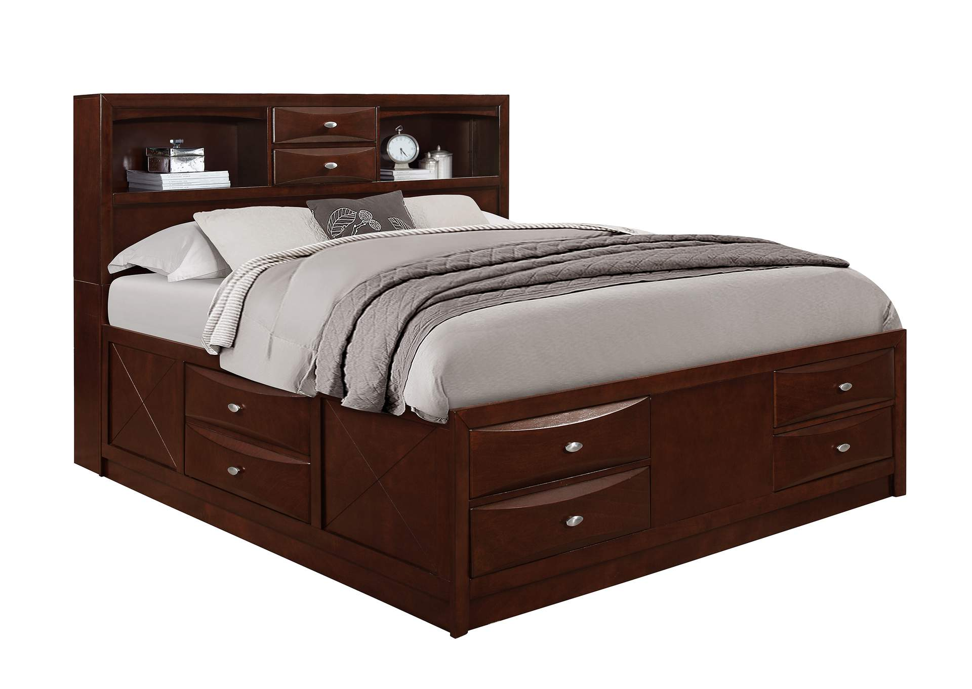 Linda Merlot King Bed,Global Furniture USA