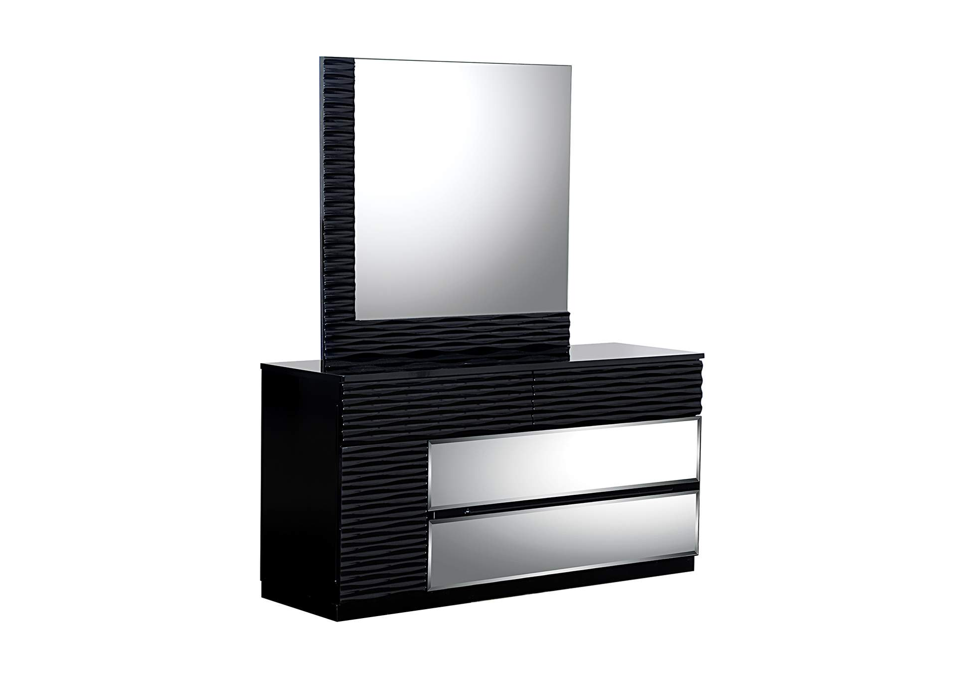 Manhattan Black Dresser and Mirror,Global Furniture USA