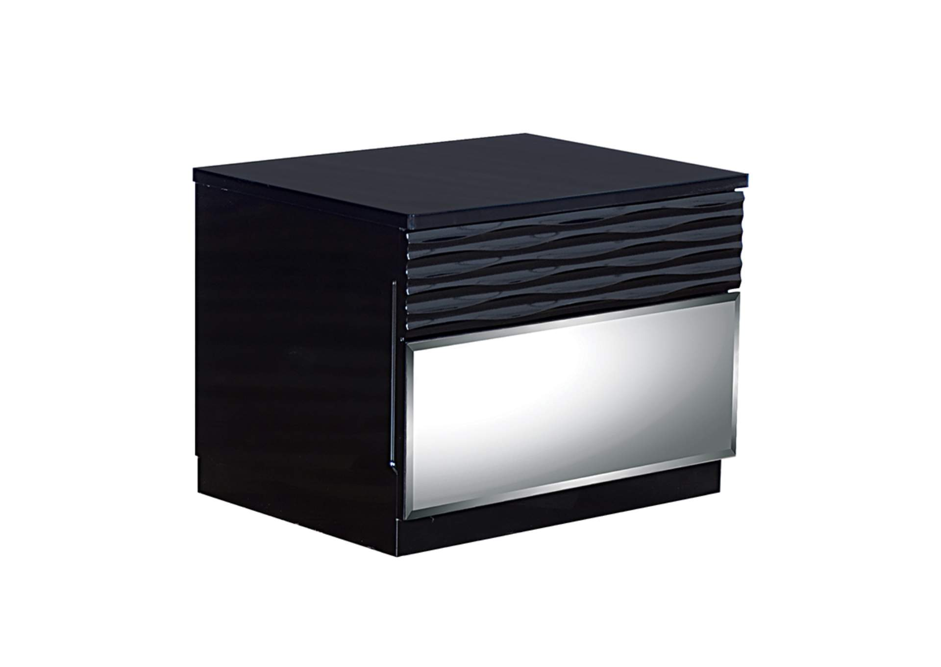 Manhattan Black Nightstand,Global Furniture USA