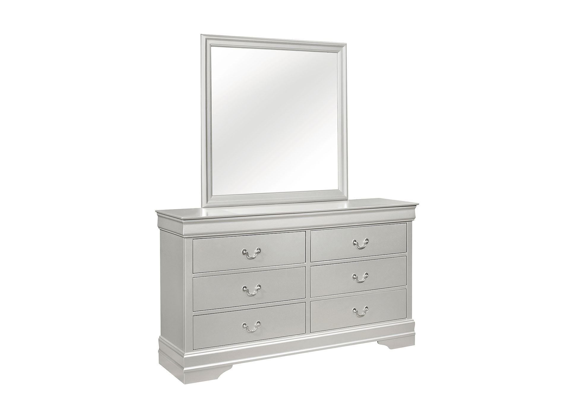Marley Silver Dresser and Mirror,Global Furniture USA