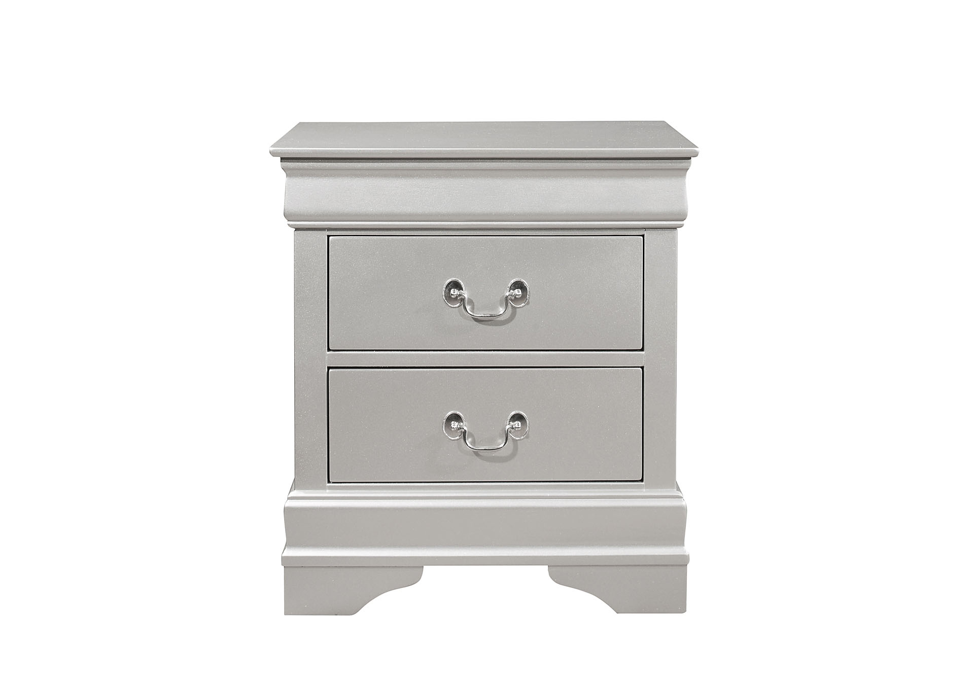 Marley Silver Nightstand,Global Furniture USA