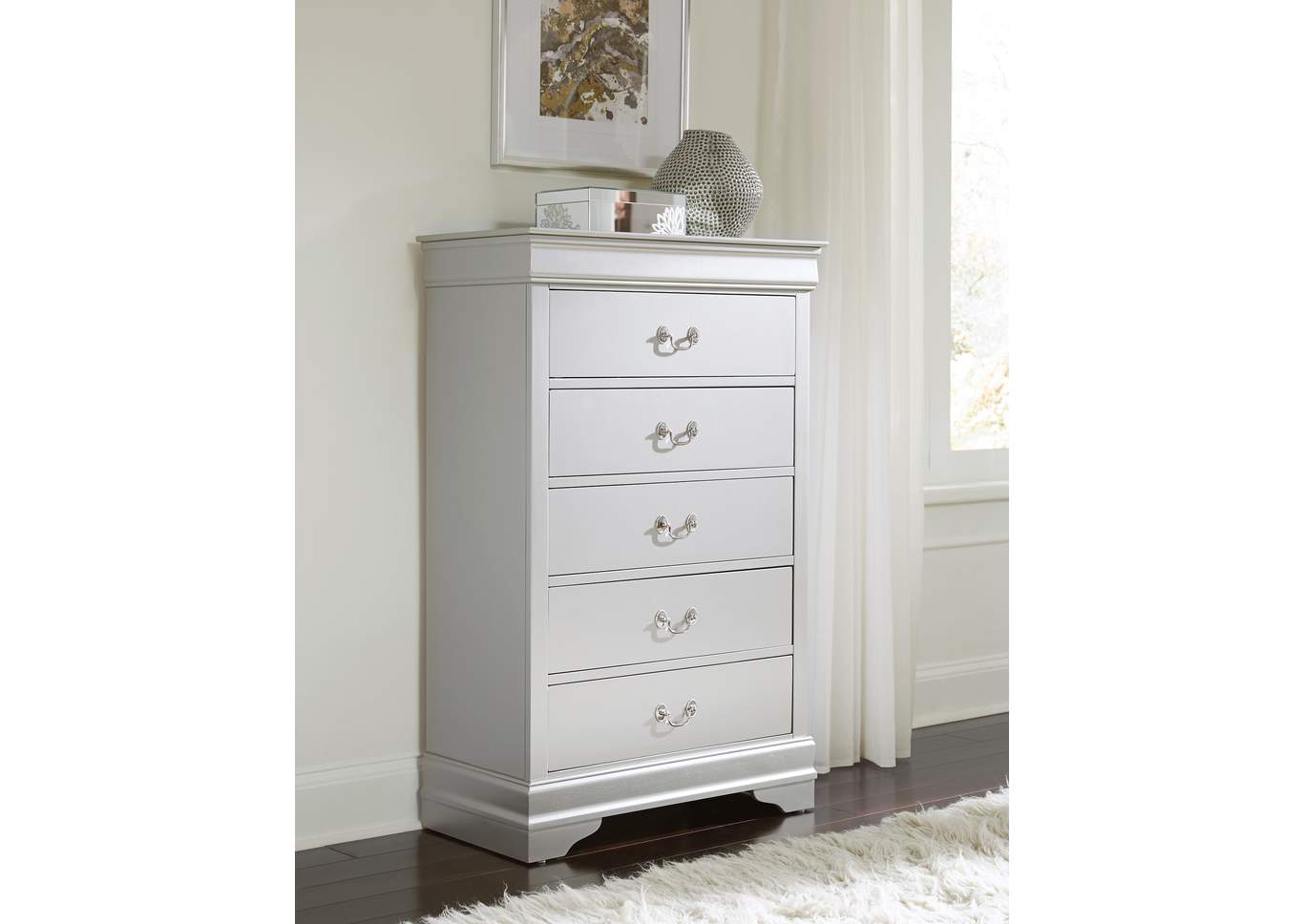Marley Silver Chest,Global Furniture USA