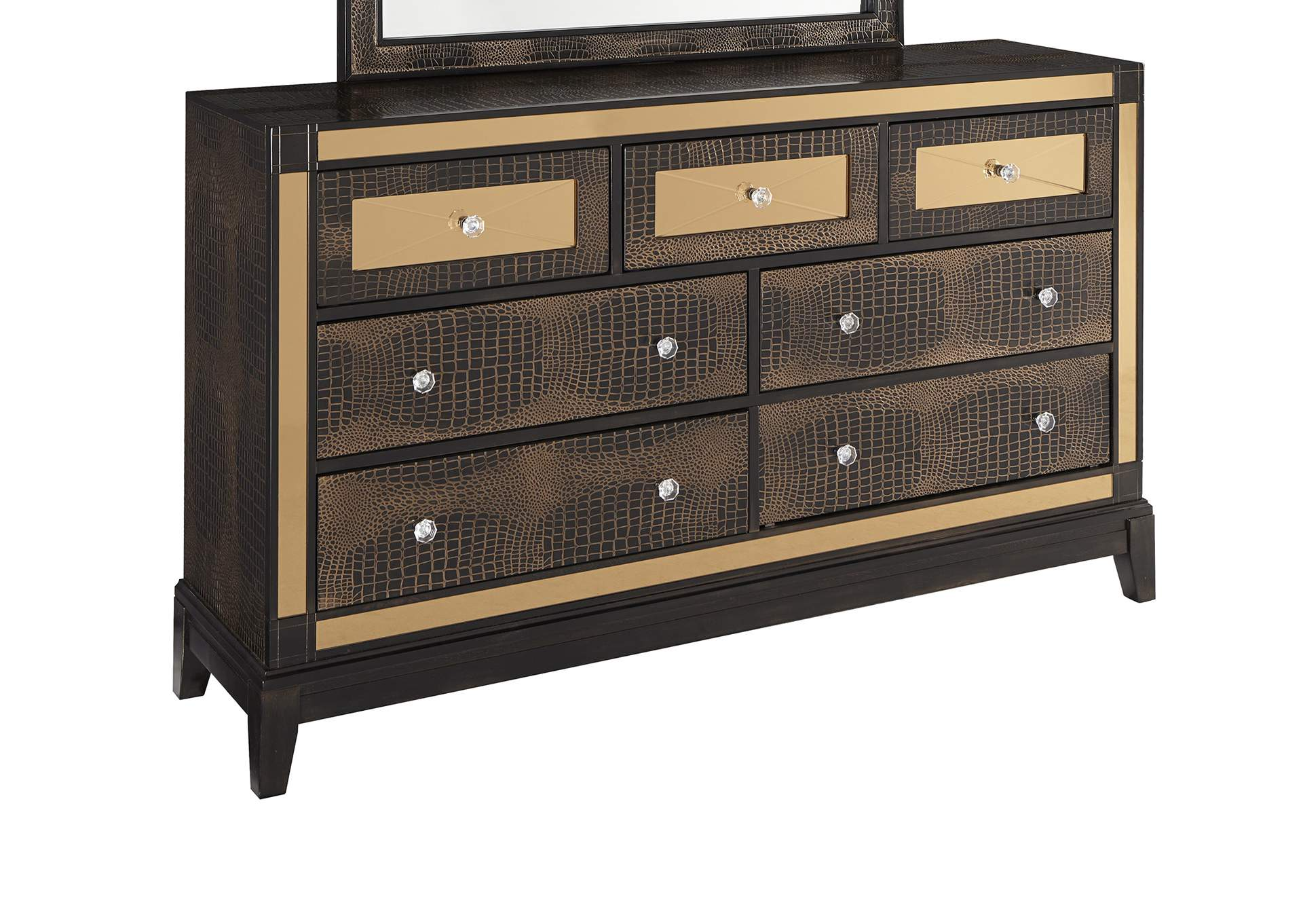 Mirror Chocolate Dresser,Global Furniture USA