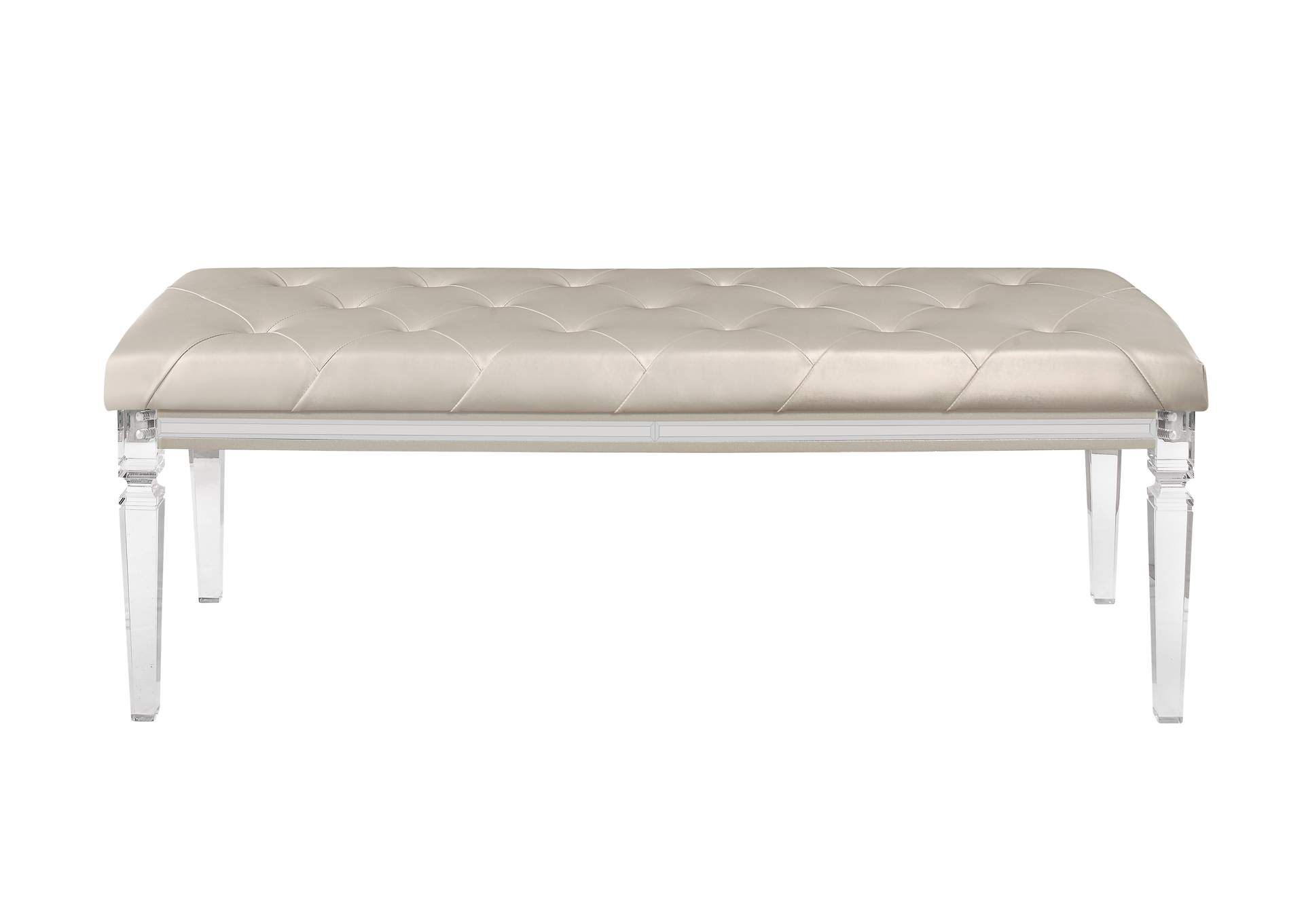 Paris Champagne Bench,Global Furniture USA