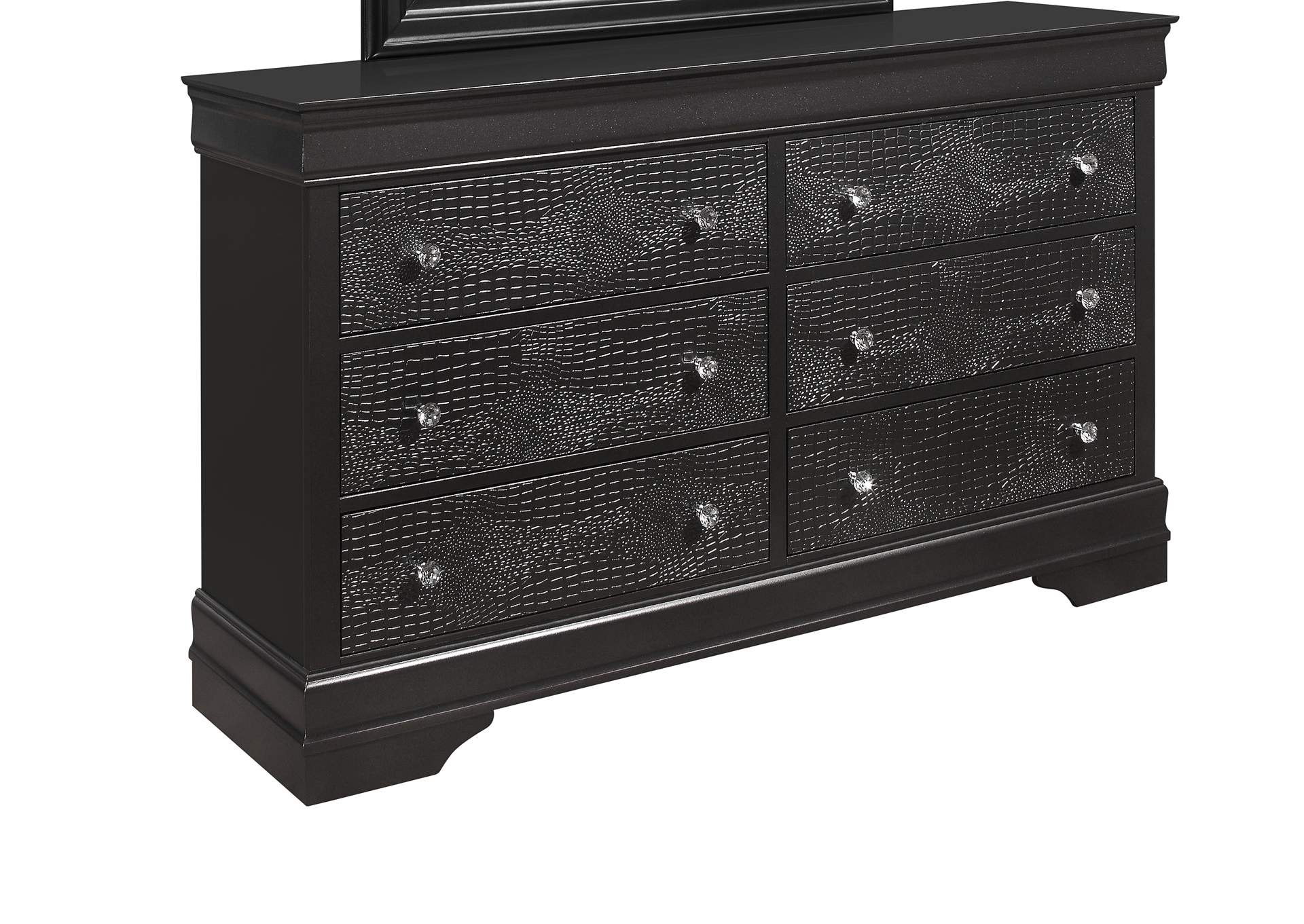 Pompei Metallic Grey Dresser,Global Furniture USA