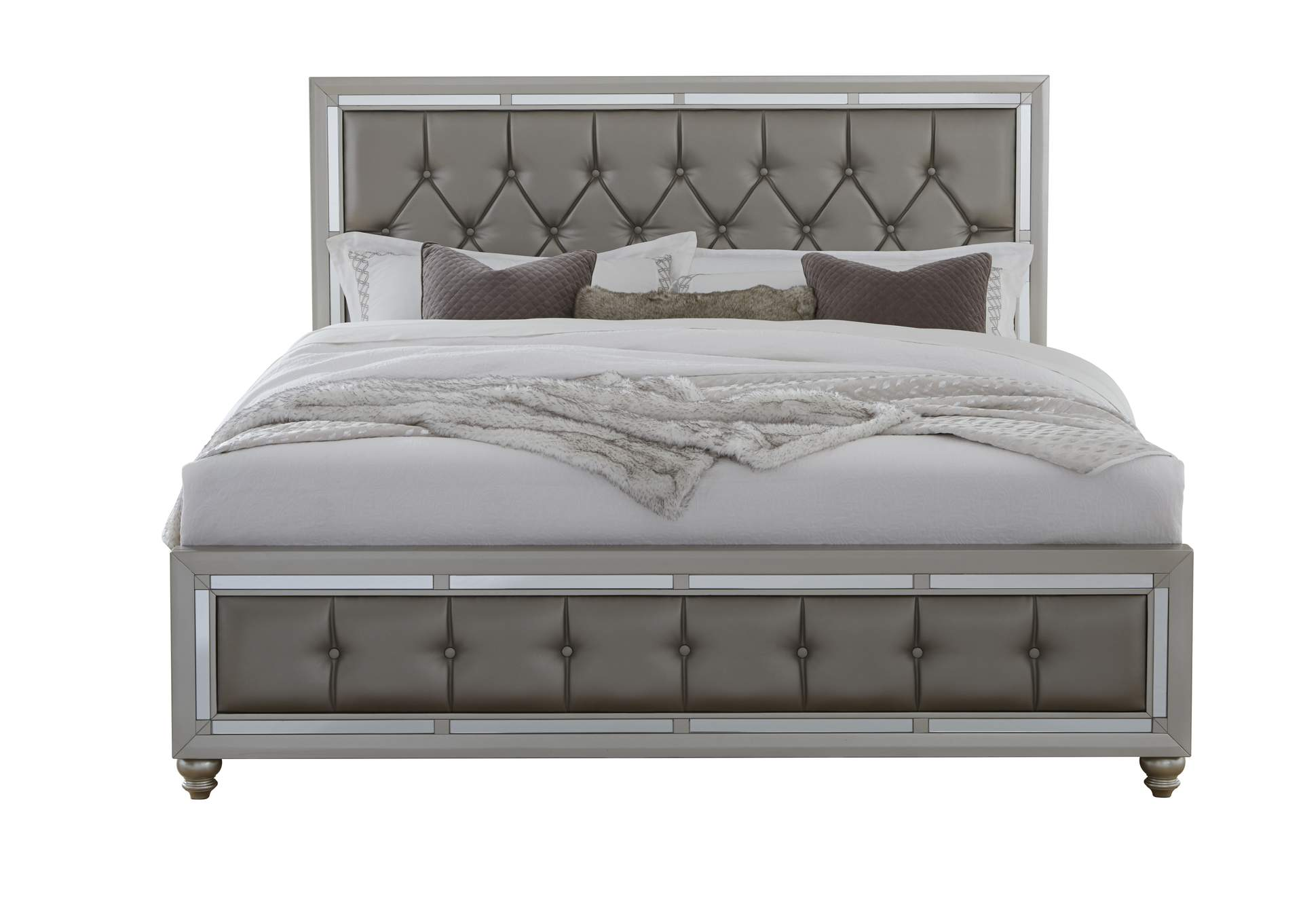 Riley Silver King Bed,Global Furniture USA