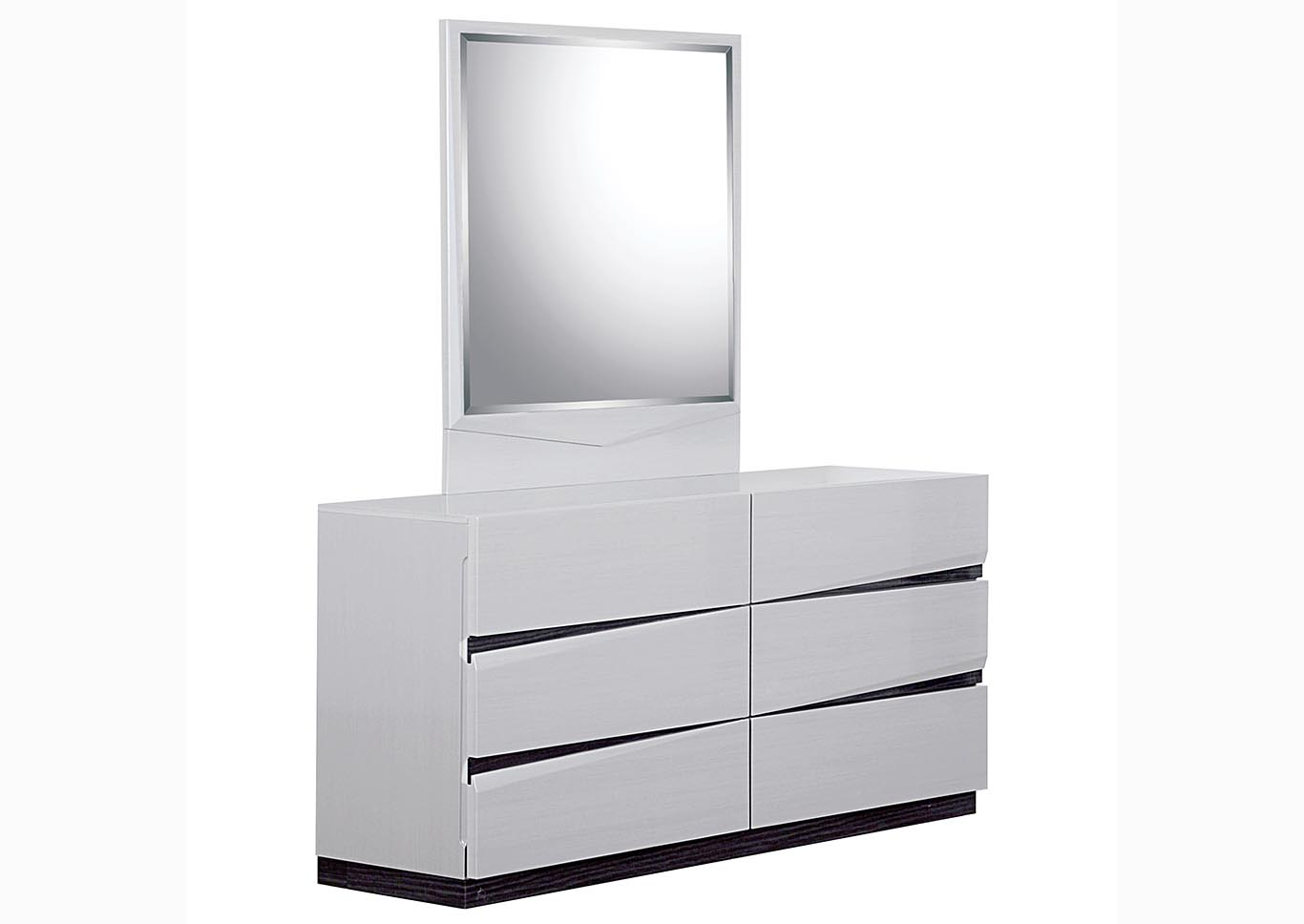 Scarlett Silverline/Zebra Grey Dresser & Mirror,Global Furniture USA