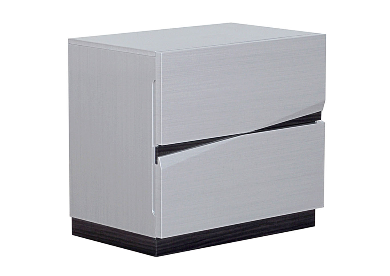 Scarlett Silverline/Zebra Grey Nightstand,Global Furniture USA