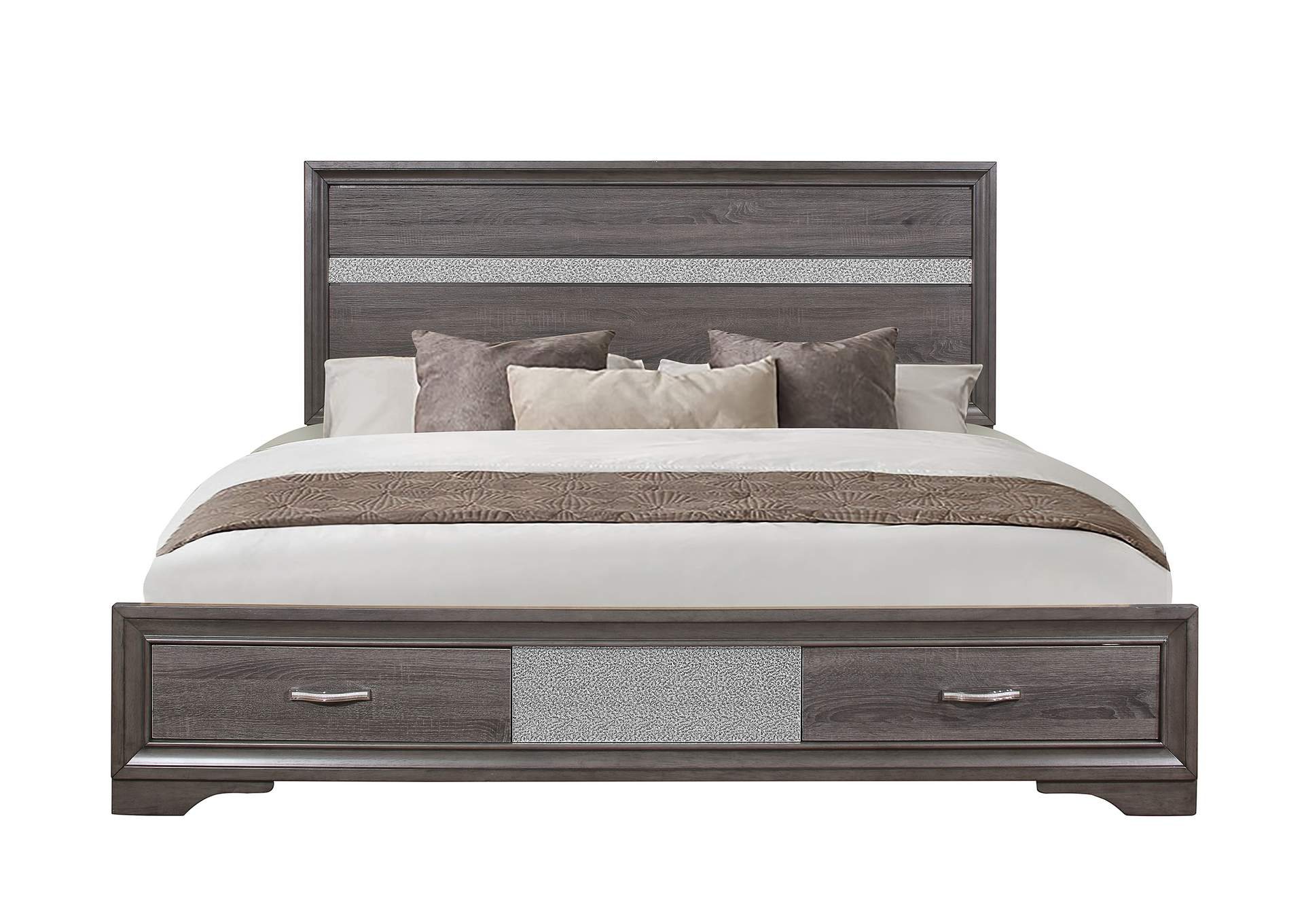 Seville Grey King Bed,Global Furniture USA