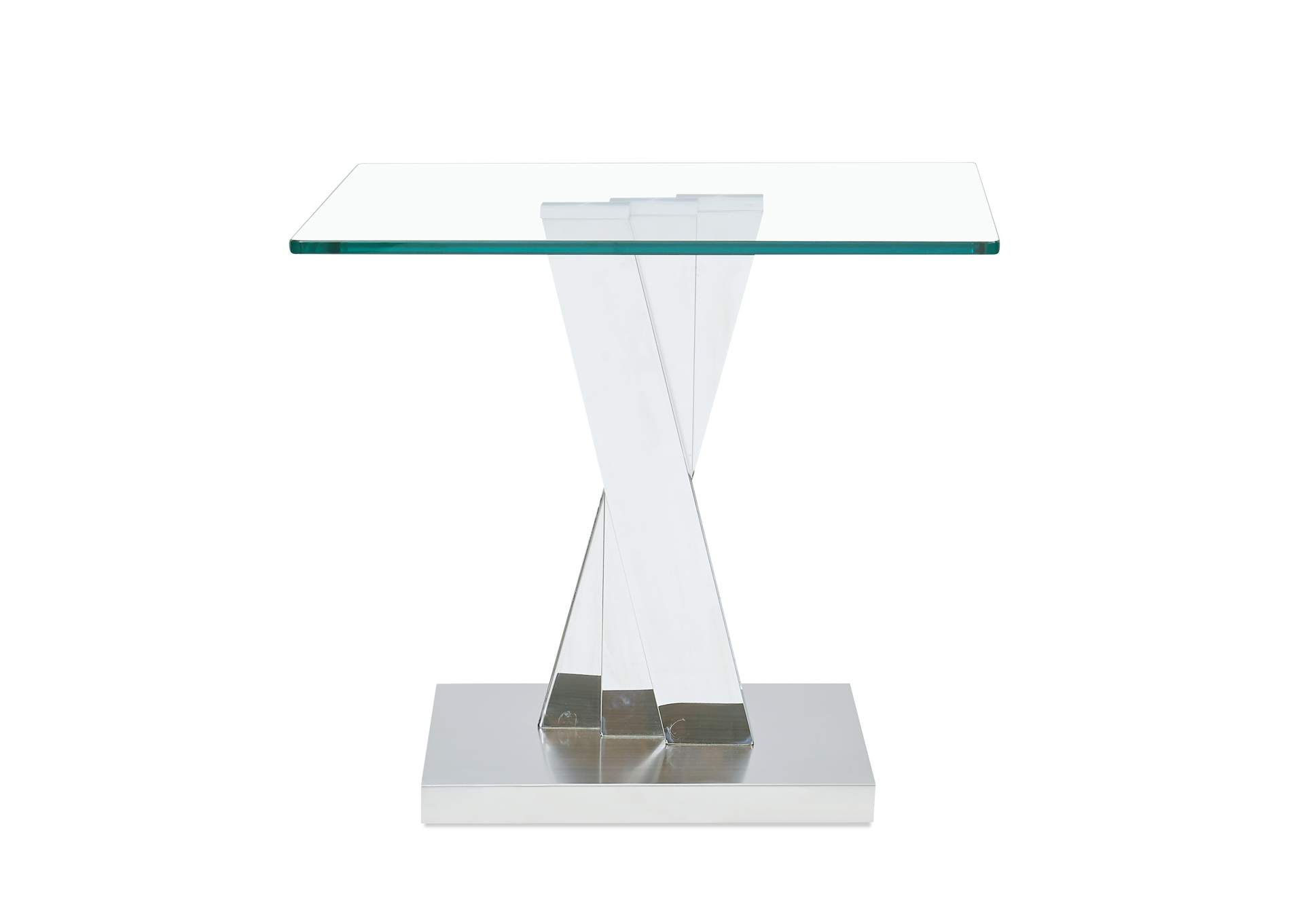 Stainless Steel End Table,Global Furniture USA