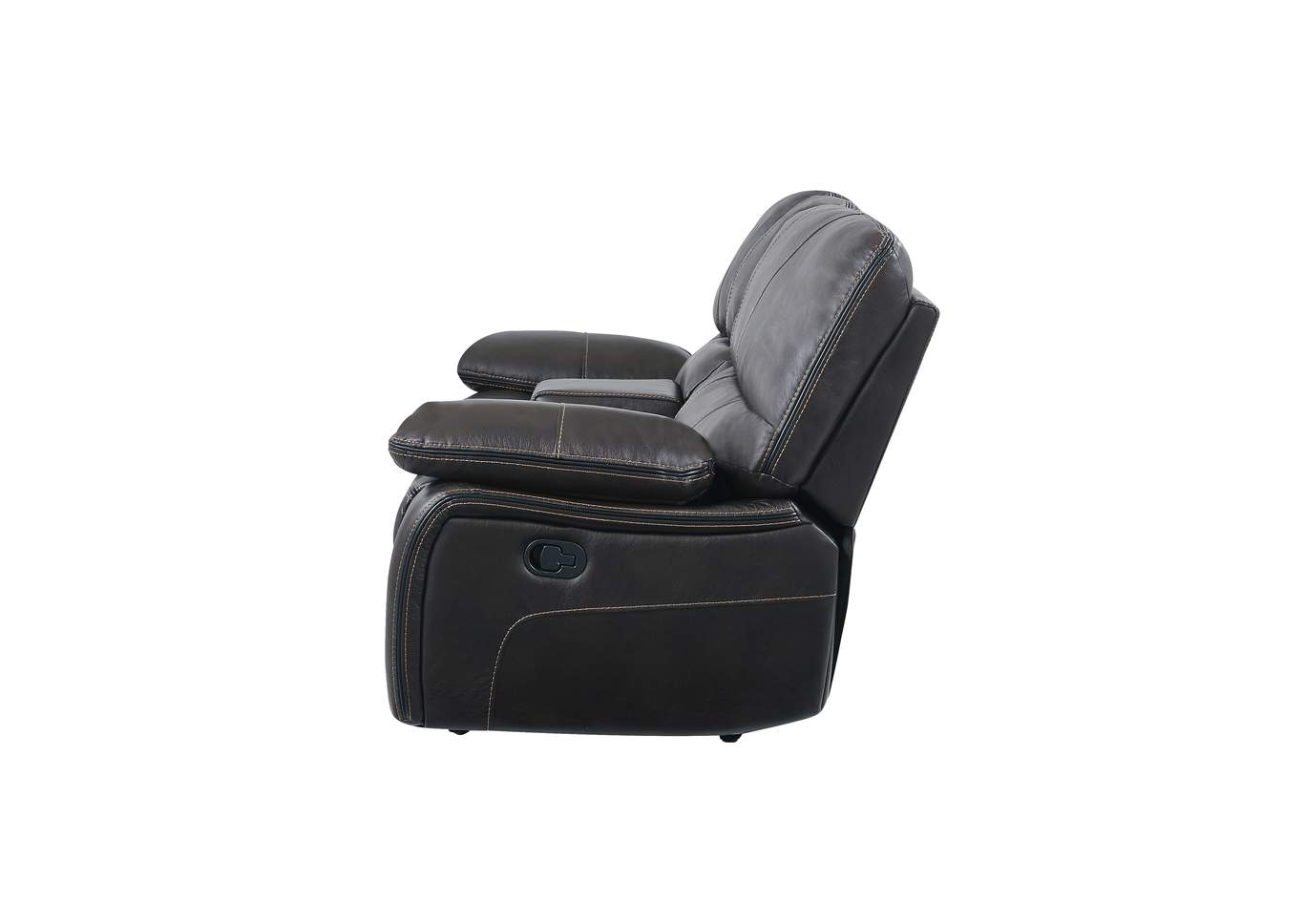 Grey/Black Console Reclining Loveseat,Global Furniture USA