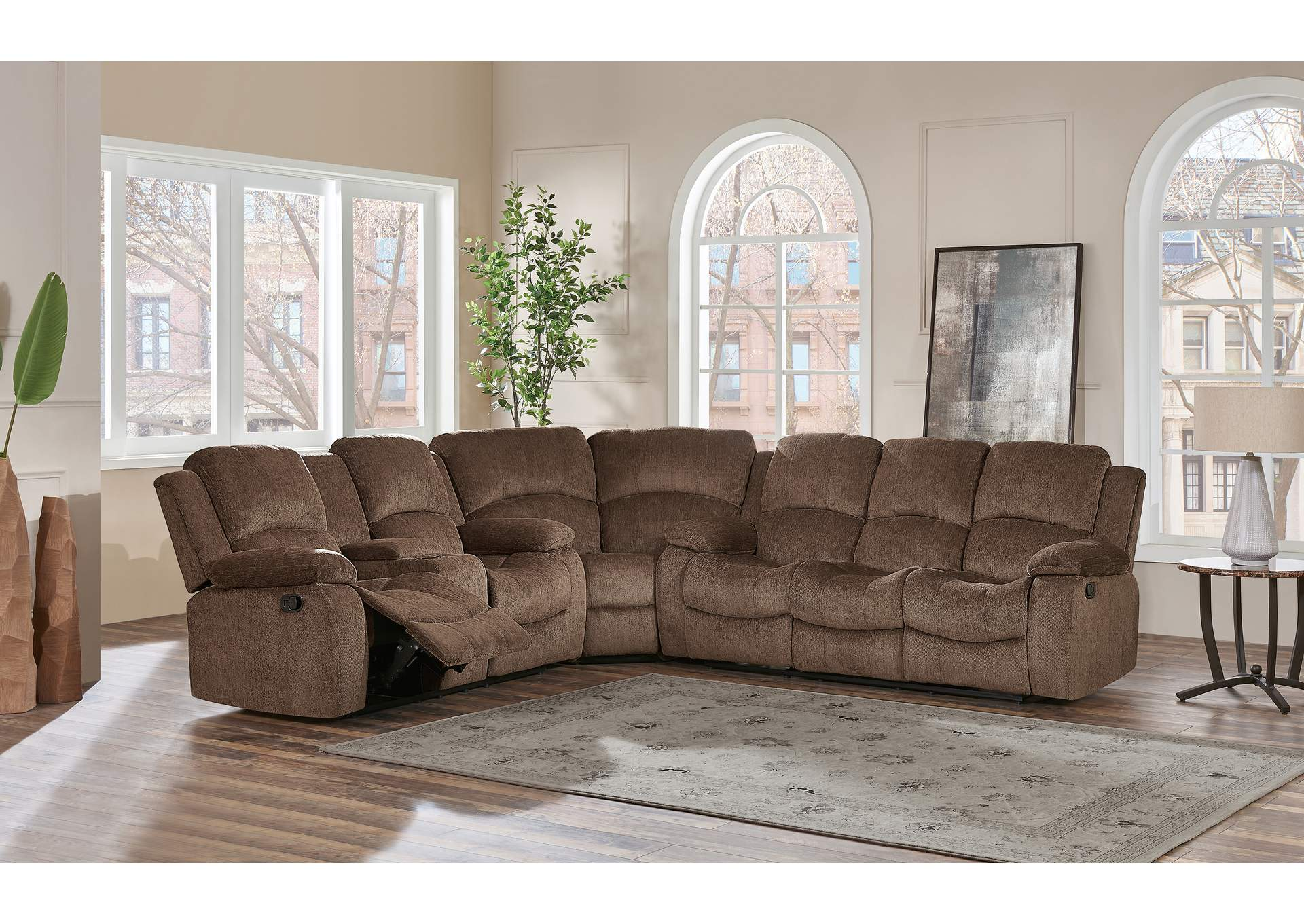 Coffee 3 Piece Sectional,Global Furniture USA