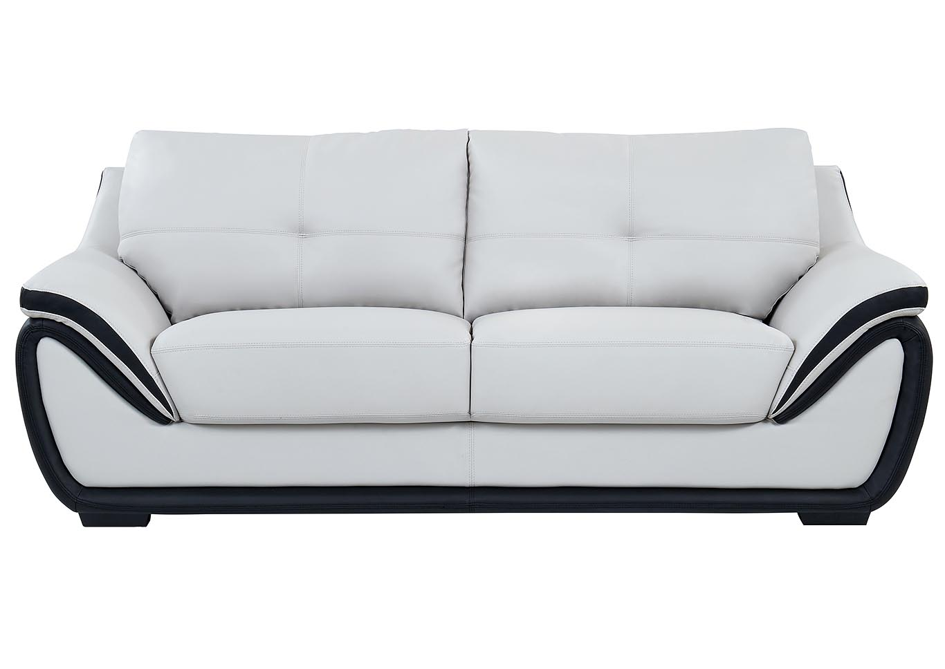 Natalie Light Grey/Black Sofa,Global Furniture USA