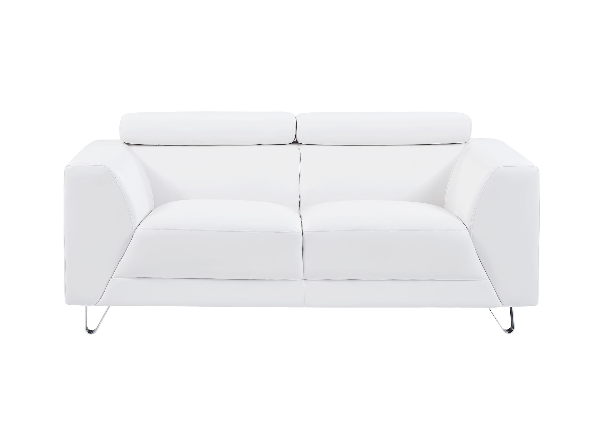 Pluto White Loveseat,Global Furniture USA