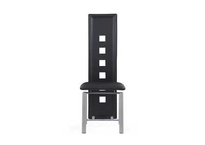 Image for Black Set Of 4 Dining Chairs