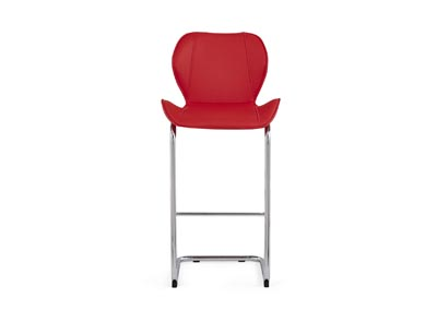 Red Set Of 4 Barstools