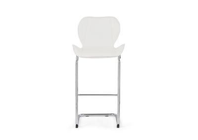 White Set Of 4 Barstools