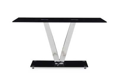 Image for D551DT Black/Silver Dining Table