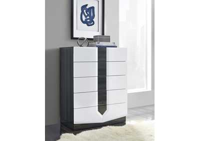 Hudson Dark Grey Chest,Global Furniture USA